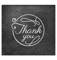 Thank You Wedding Design Element vector image