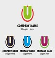 U logo Company name symbol letter U vector image