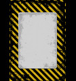 warnning vector image vector image