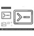 Web development line icon vector image