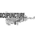 what is laser acupuncture text word cloud concept vector image vector image