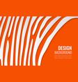 white paper lines on bright orange backdrop vector image