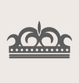 crown royal diadem or tiara with ornate ornament vector image