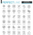 network technology thin line web icons set big vector image