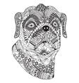 Bulldog portrait Hand drawn stylized dog vector image