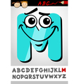 funny letter m cartoon vector image