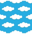 White clouds on blue sky seamless pattern vector image