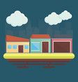 residential houses icon vector image
