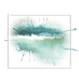 Abstract watercolor splash vector image