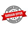 bargain offer label offerround band sign vector image vector image