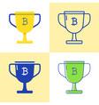 bitcoin block reward icon set in flat and line vector image vector image