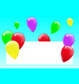 blank banner with color vector image