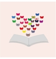 book and butterflies vector image vector image