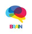 brain silhouette symbol design vector image vector image