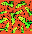 bright seamless background bats and stars vector image vector image