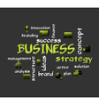 BUSINESS strategy vector image vector image