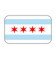 chicago flag icon vector image vector image
