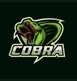cobra mascot esport logo vector image
