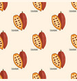 cocoa beans seamless pattern vector image vector image