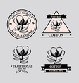 Cotton icons natural product vector image vector image
