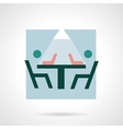 Coworking flat icon vector image