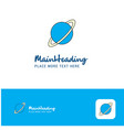 creative planet logo design flat color logo place vector image