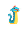 cute cartoon dragon character with funny face vector image