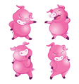 cute pig character actions vector image vector image