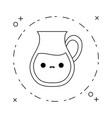 cute teapot kitchen kawaii style vector image vector image