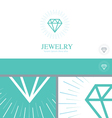 Diamond Jewelry Jewler Logo Concept Design Element vector image vector image