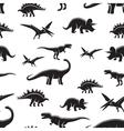Dinosaur seamless pattern vector image