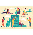 diverse multiracial college or university students vector image vector image