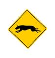 Dog warning sign vector image vector image