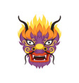 dragon head element of chinese traditional boat vector image