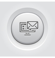 E-mail Marketing Icon Grey Button Design vector image vector image