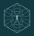 esoteric mystical symbols vector image vector image