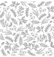 floral seamless pattern with flowers plants vector image vector image