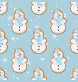 ginger cookies seamless patternchristmas vector image vector image