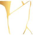 gold kintsugi crack card on white vector image