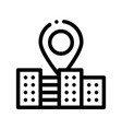 gps locaton mark and building sign icon vector image