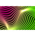 green purple neon curved wavy lines abstract vector image vector image