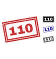 grunge 110 scratched rectangle stamp seals vector image vector image