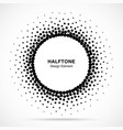halftone circular dotted frame circle halftone vector image vector image