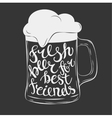 hand drawn lettering for with mug beer vector image vector image