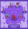 laboratory color concept isometric icons vector image vector image