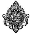 lotus tattoo mandala vector image vector image