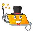 magician parallelogram mascot cartoon style vector image