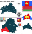 map brest region belarus