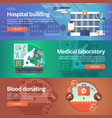 medical and health banners set hospital vector image