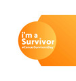 national cancer survivors day june holiday vector image vector image